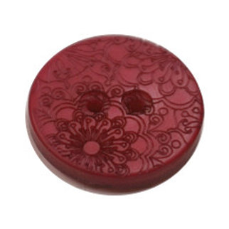 23mm Mauve 2 hole button