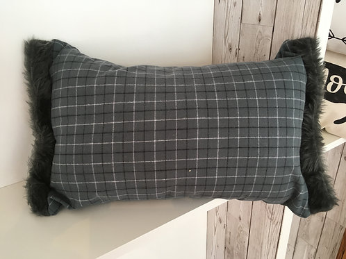Gray Tartan Cushion