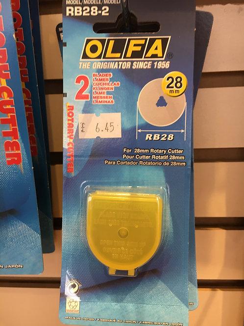 Olfa 28mm blades