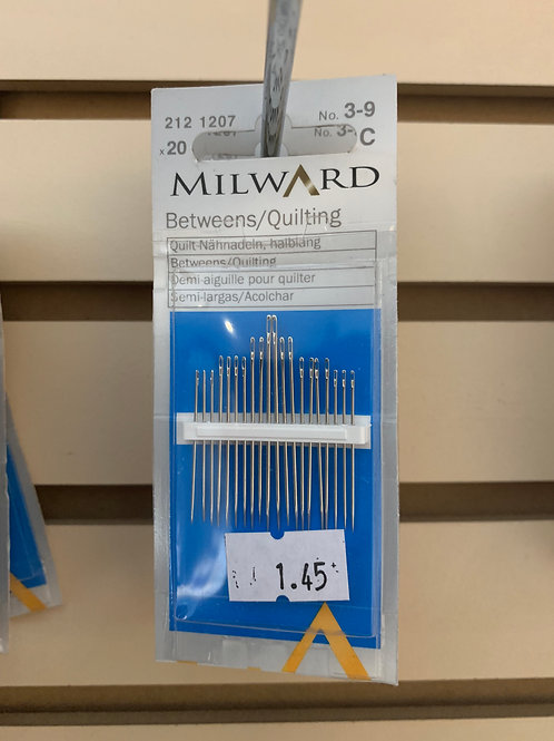 Milward 3-9 Quilting Needles