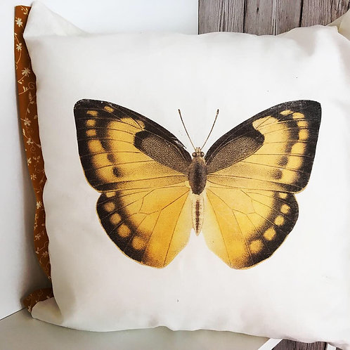 Yellow Butterfly cushion