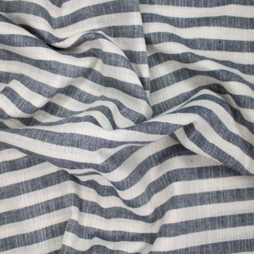 Washed striped linen look