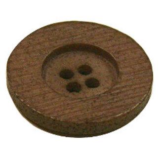 23mm Mocha 4 hole button