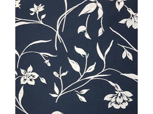 Flocked Floral Blue