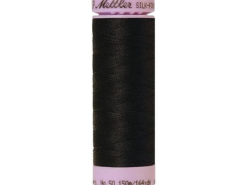 Silk finish cotton 50 150m Black