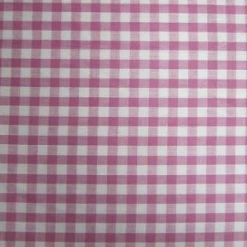 polycotton gingham pink 1/4