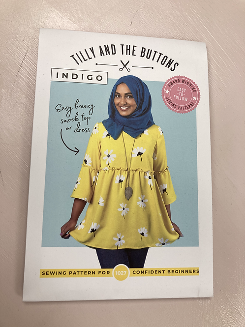 Making the Tilly and the Buttons Indigo dress