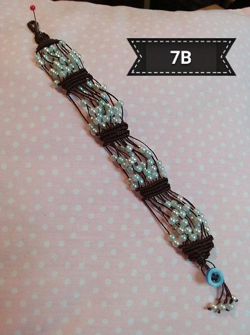 Macrame-Brown Multi Bead Bracelet.