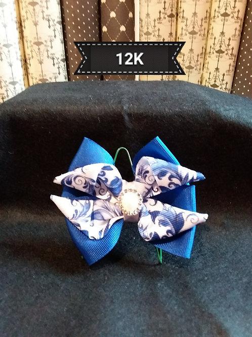 Kanzashi-Blue Hair slide