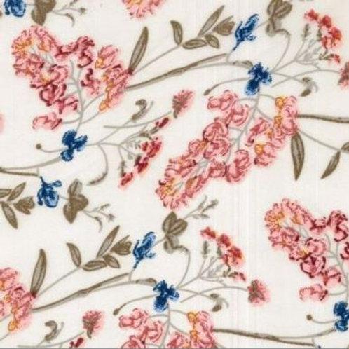 Floral Chiffon Satin