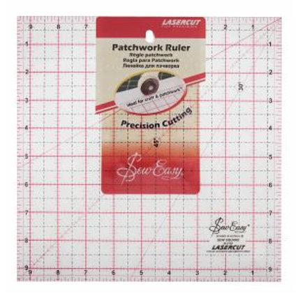 9.5ins x9.5ins square ruler