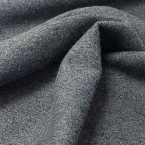 Wool mix plain grey