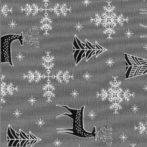 Xmas Trees and reindeers-polycotton