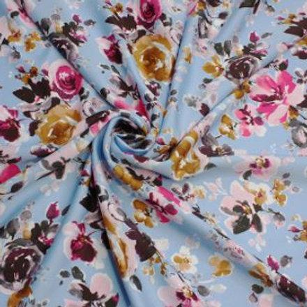 Roses floral crepe de chine