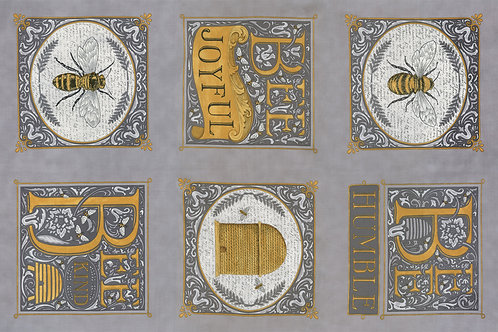 Bee Joyful-Deb Strain Grey Panel
