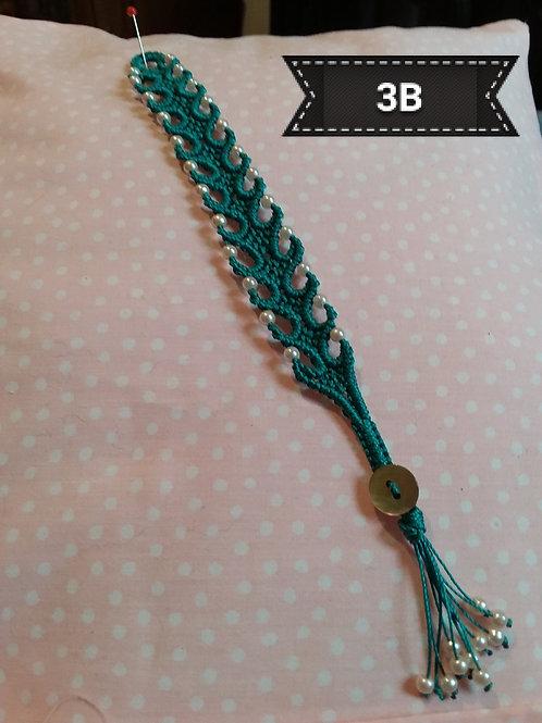 Macrame-Wave Pearl Bead Bracelet