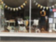 Deb Strain display at Winking Owl Fabric Shop