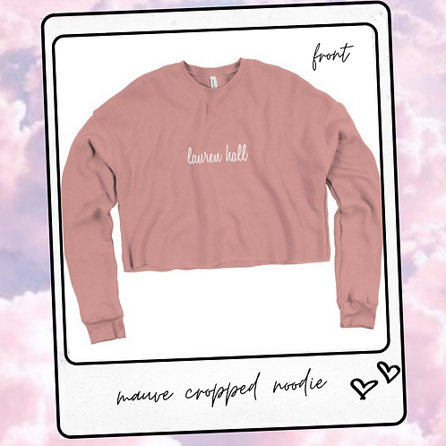 mauve cropped noodie