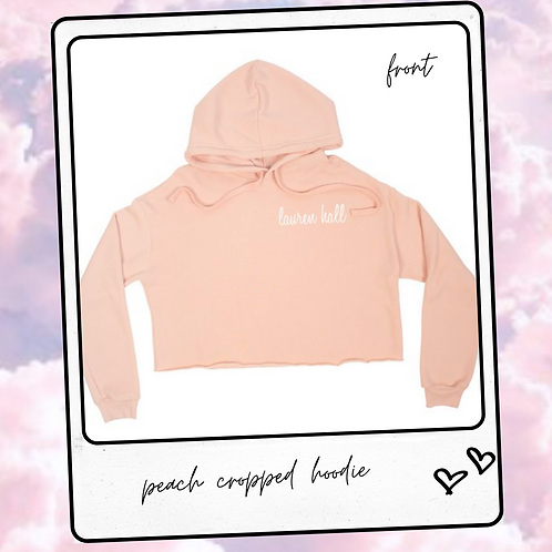 peach cropped hoodie