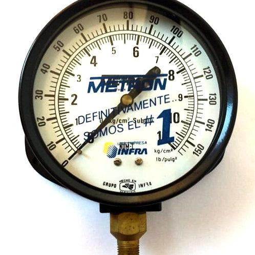 MANOMETRO MOD. 11510 RGO 0-11 KG CONX INF 1/4 Y BURDON DE BRONCE METRON