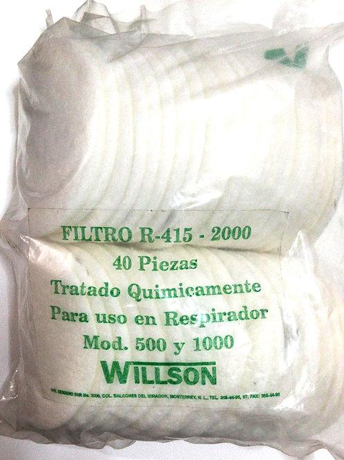 FILTROS PARA POLVOS MOD. R-415-2000 WILLSON