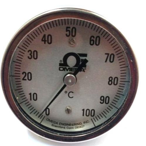 TERMOMETRO 0-100°c R-0-100C-3-1/2  CONEX POST Y VASTAGO EN ACERO INOX OMEGA