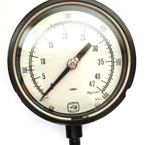 MANOMETRO MOD. 451279S2L RGO 0-42 KG CONEX INF. BURDON AC Y CONEX BRONCE SUREX