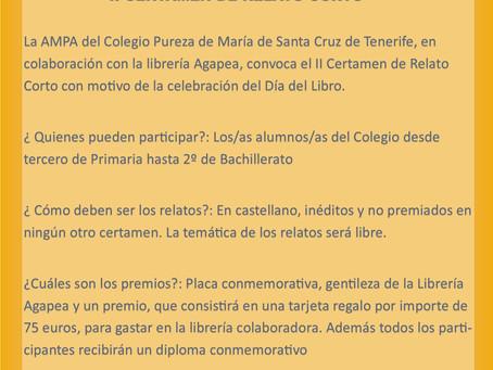 II CERTAMEN DE RELATOS CORTOS DEL COLEGIO PUREZA DE MARIA DE SANTA CRUZ DE TENERIFE