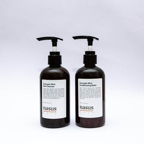 Aromatic Mint Combo (Cleanser 250ml & Conditioning Balm 250ml)