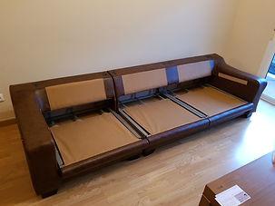 Tapizado y renovación de estructura sofá