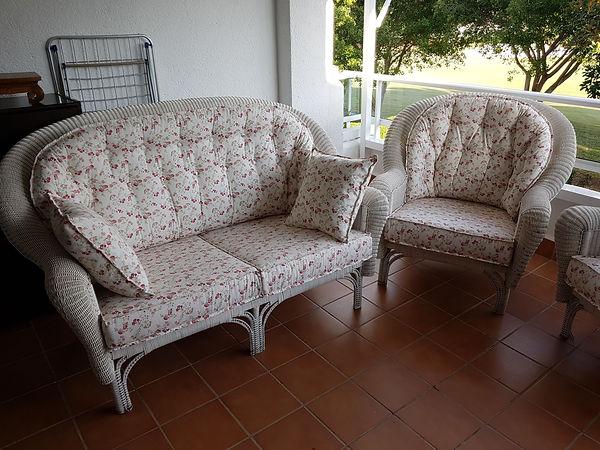 Conjunto terraza confeccionado en telas