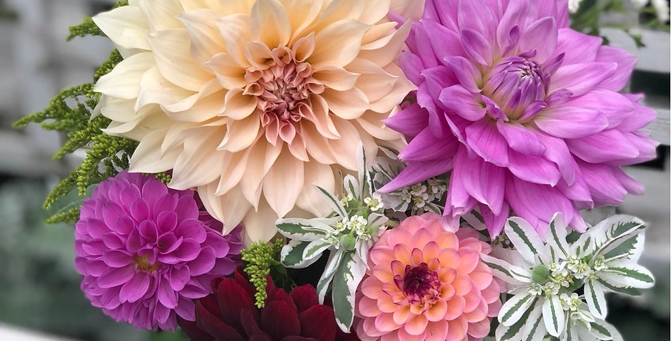 5 monthly seasonal bouquet May to September Wednesday pick up