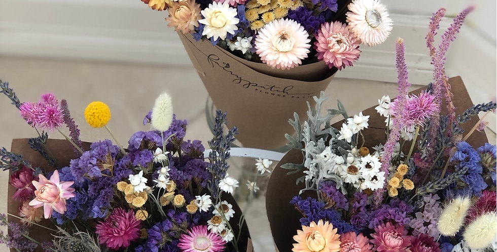 FairyPatch grown and dried flower bunch