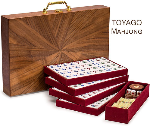 TOYAGO Classic Chinese Mahjong Game Set - Champagne Gold
