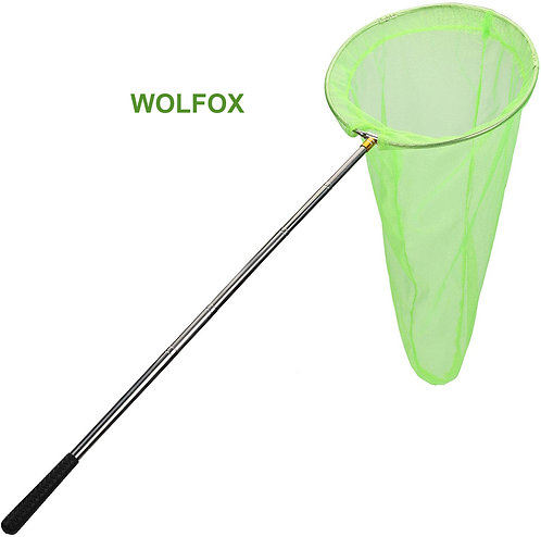 "WOLFOX Insect and Butterfly Net with 14"" Ring"