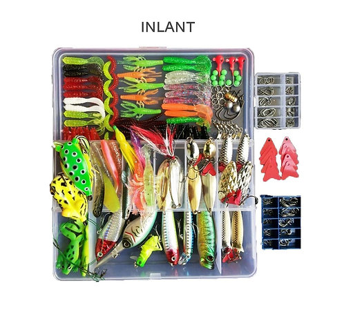 INLANT 275pcs Freshwater Fishing Lures Kit Fishing Tackle Box with Tackle