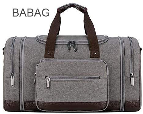 BABAG  Bag for Men and Women Canvas Travel Overnight Carry