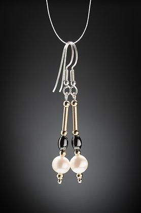 Pearl and Haematite Earrings