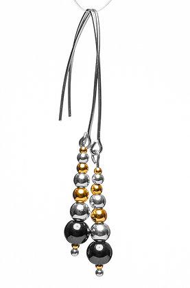 Beaded Earrings with Hematite