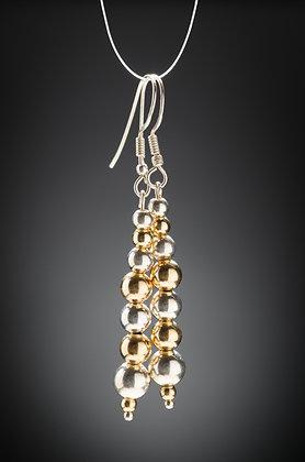 Gold & Silver Bead Earrings