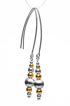 Beaded Silver & Gold Earrings