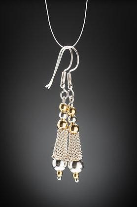 Sterling Silver Rope Earrings