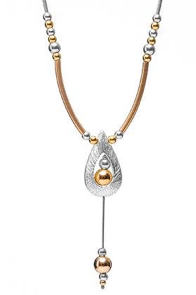 Drop with Gold beads & beaded chain