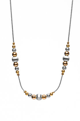 Silver & Gold beaded Necklace