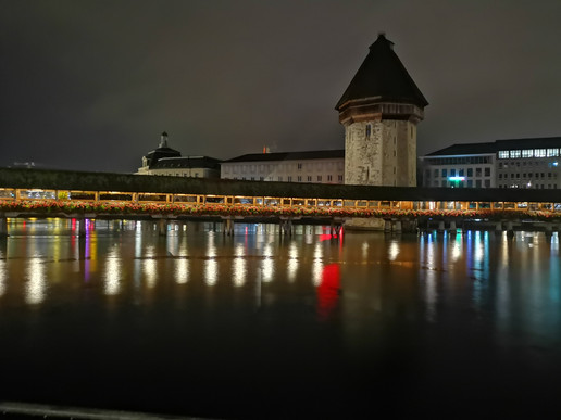 Chapel bridge Lucerne at night