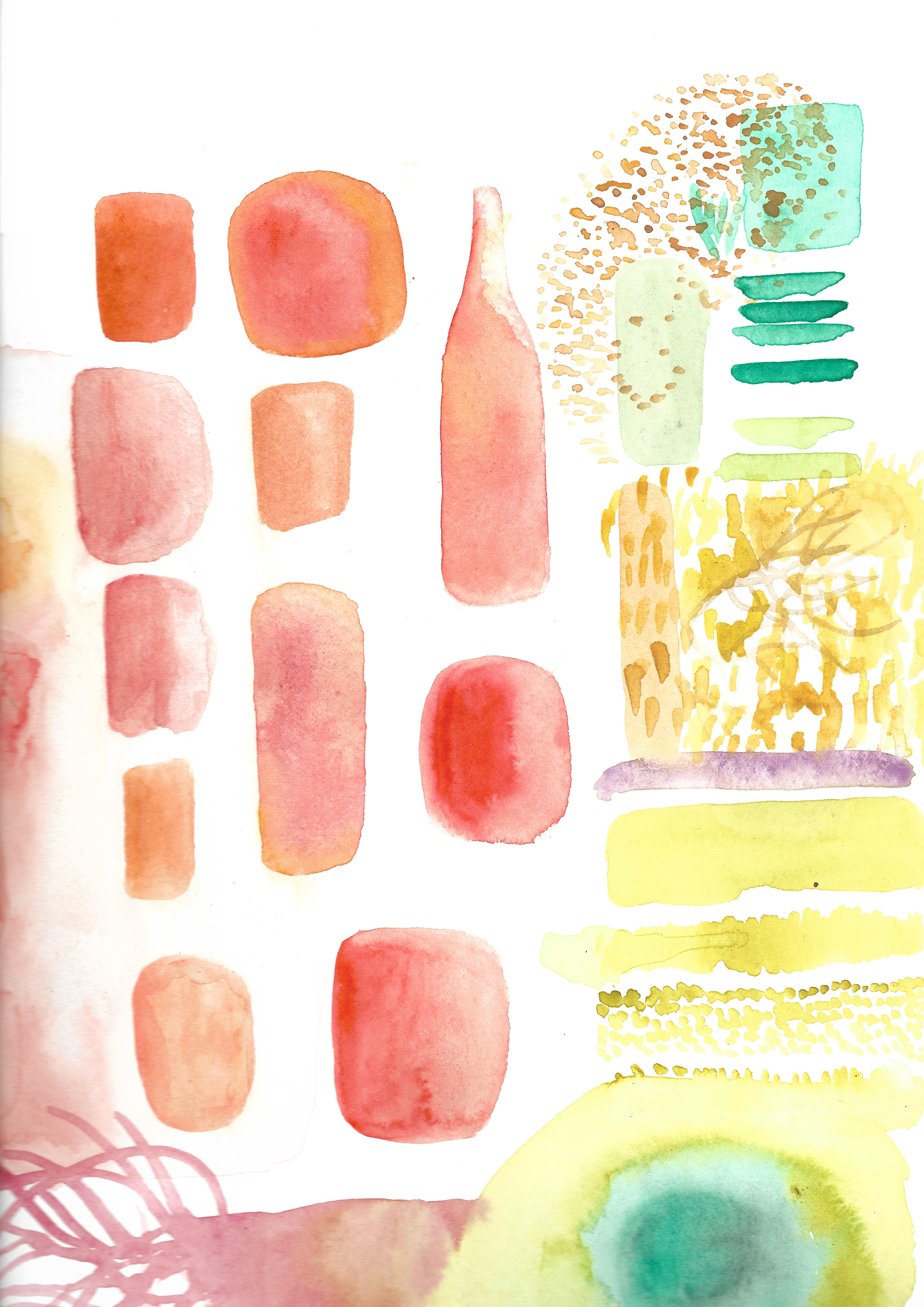 Test couleurs aquarelle