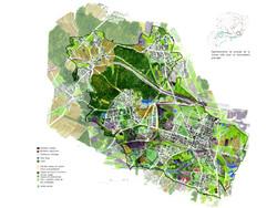 Carte des paysages de Bytom en Pologne