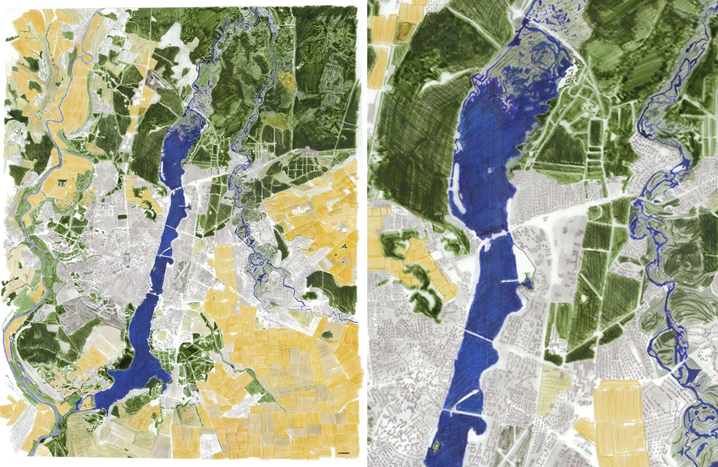 Carte des paysages de la ville de Voronez et ses environs