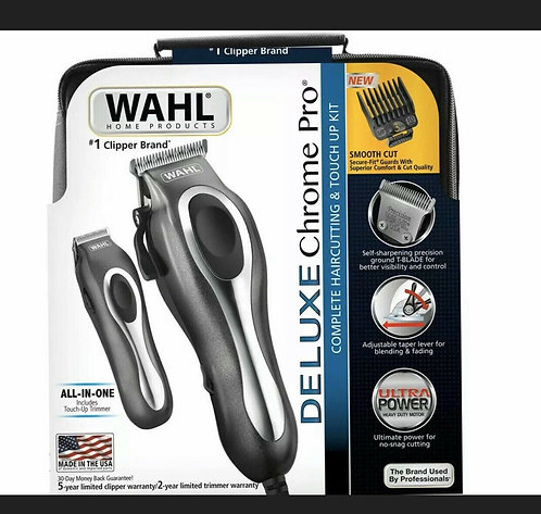 NEW Wahl Deluxe Chrome Pro 25 Piece Haircutting Kit /Beard Trimmer BRAND NEW