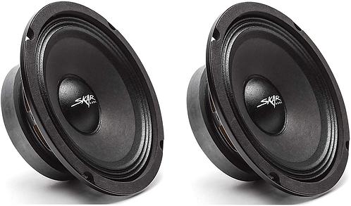 "2 x Car Audio Speakers Midrange Loudspeakers 300 Watt 6.5 Inch 8 Ohm 1.5"" Coil"